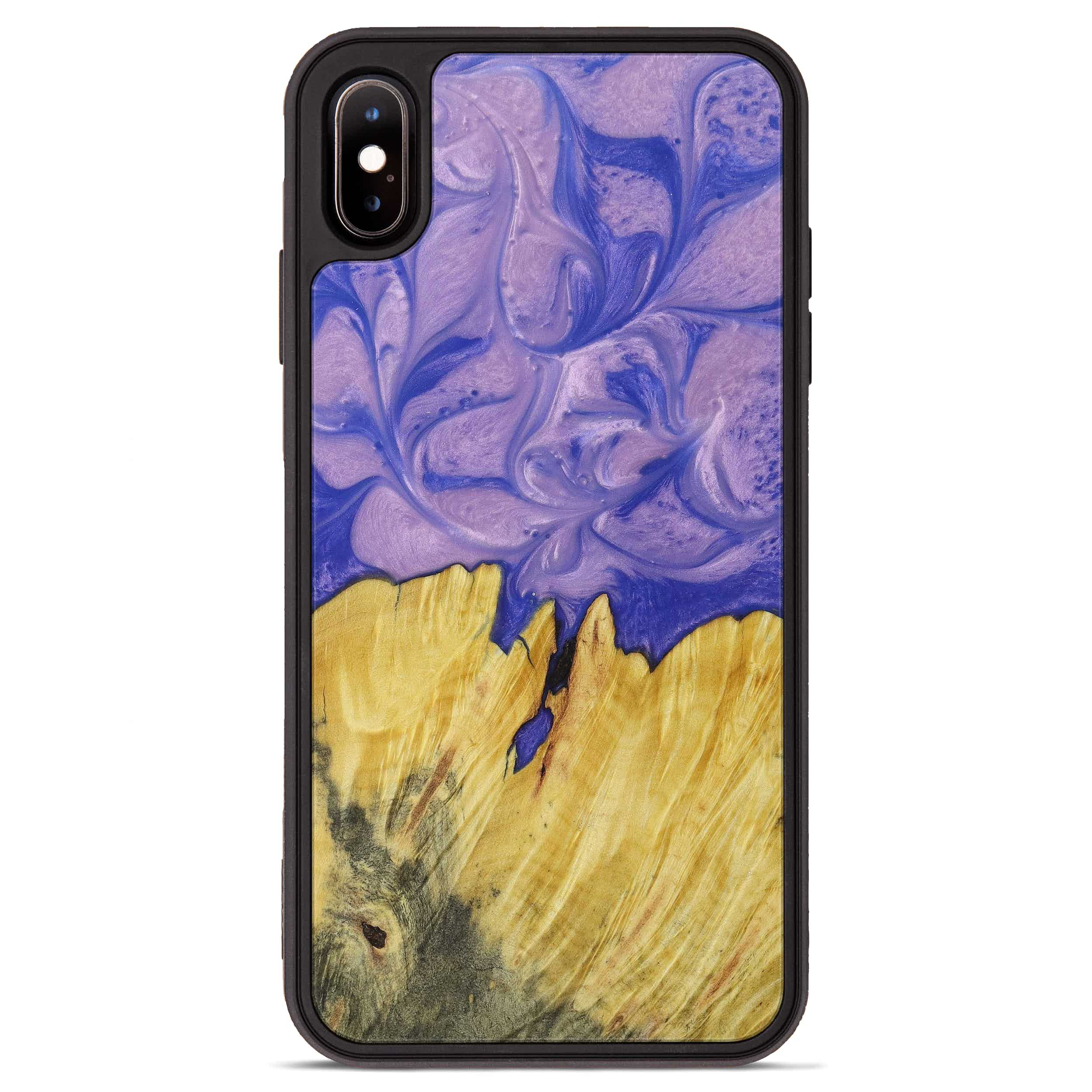 iPhone Xs Max Wood+Resin Phone Case - Luise (Purple, 395916)