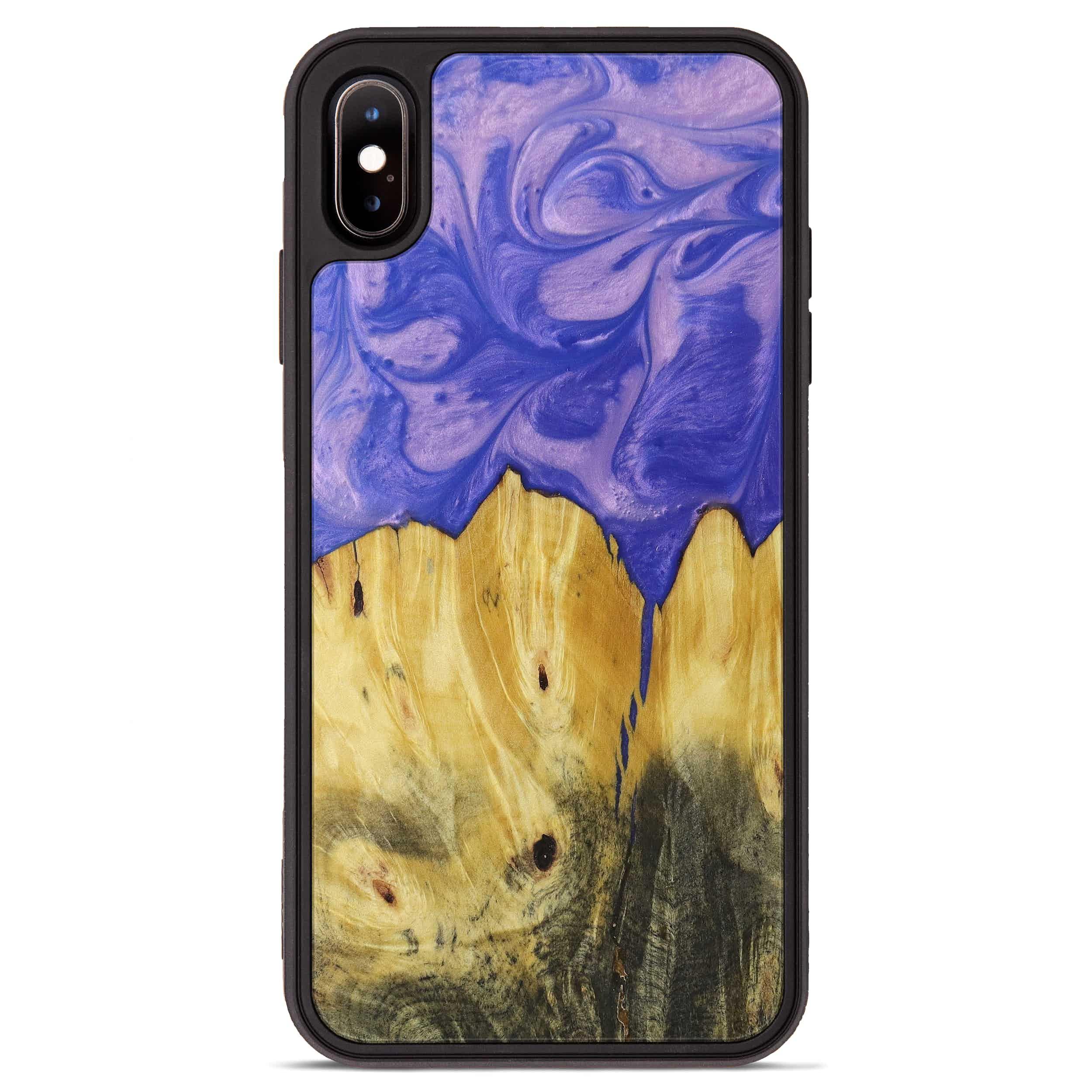 iPhone Xs Max Wood+Resin Phone Case - Dixie (Purple, 395917)