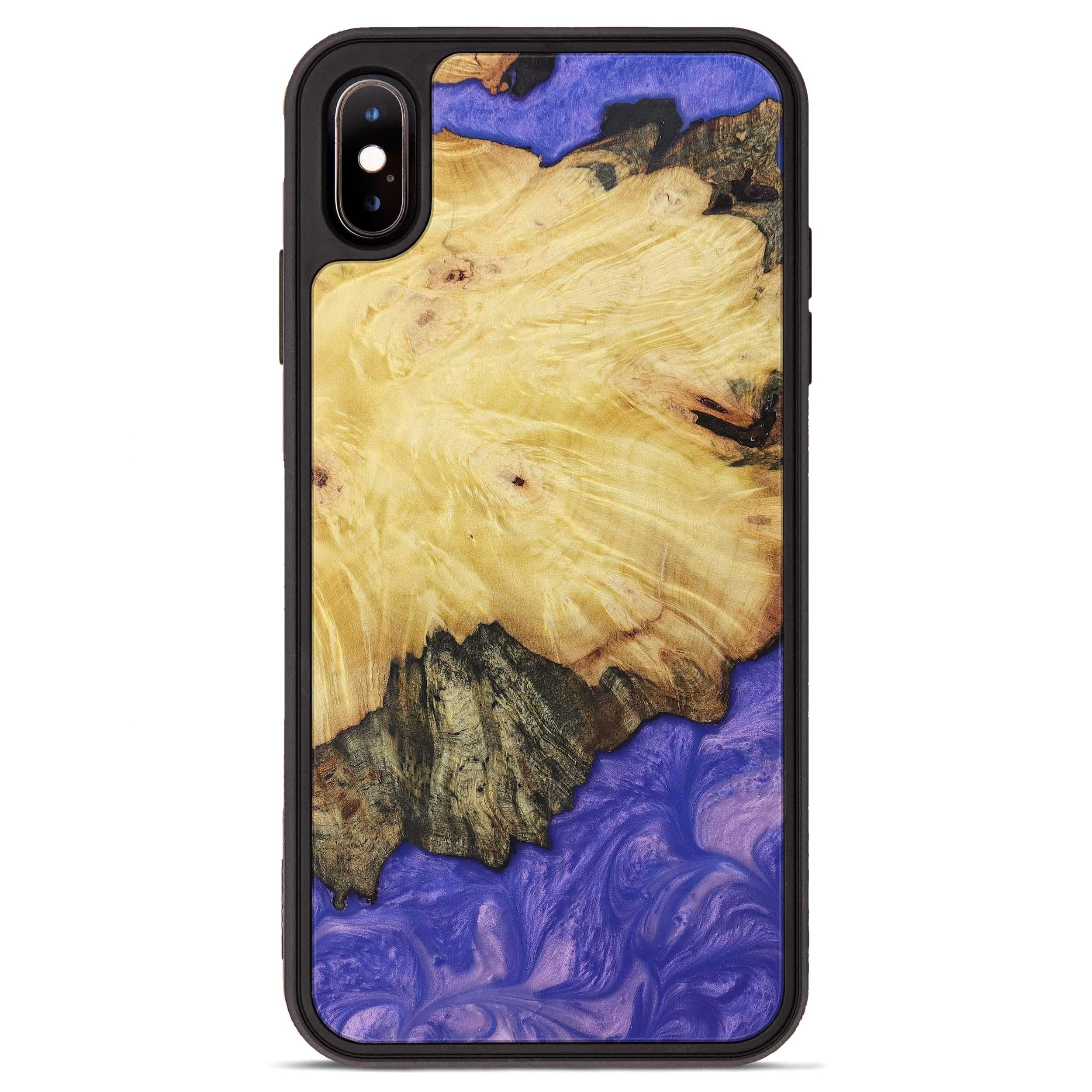 iPhone Xs Max Wood+Resin Phone Case - Cathe (Purple, 395918)