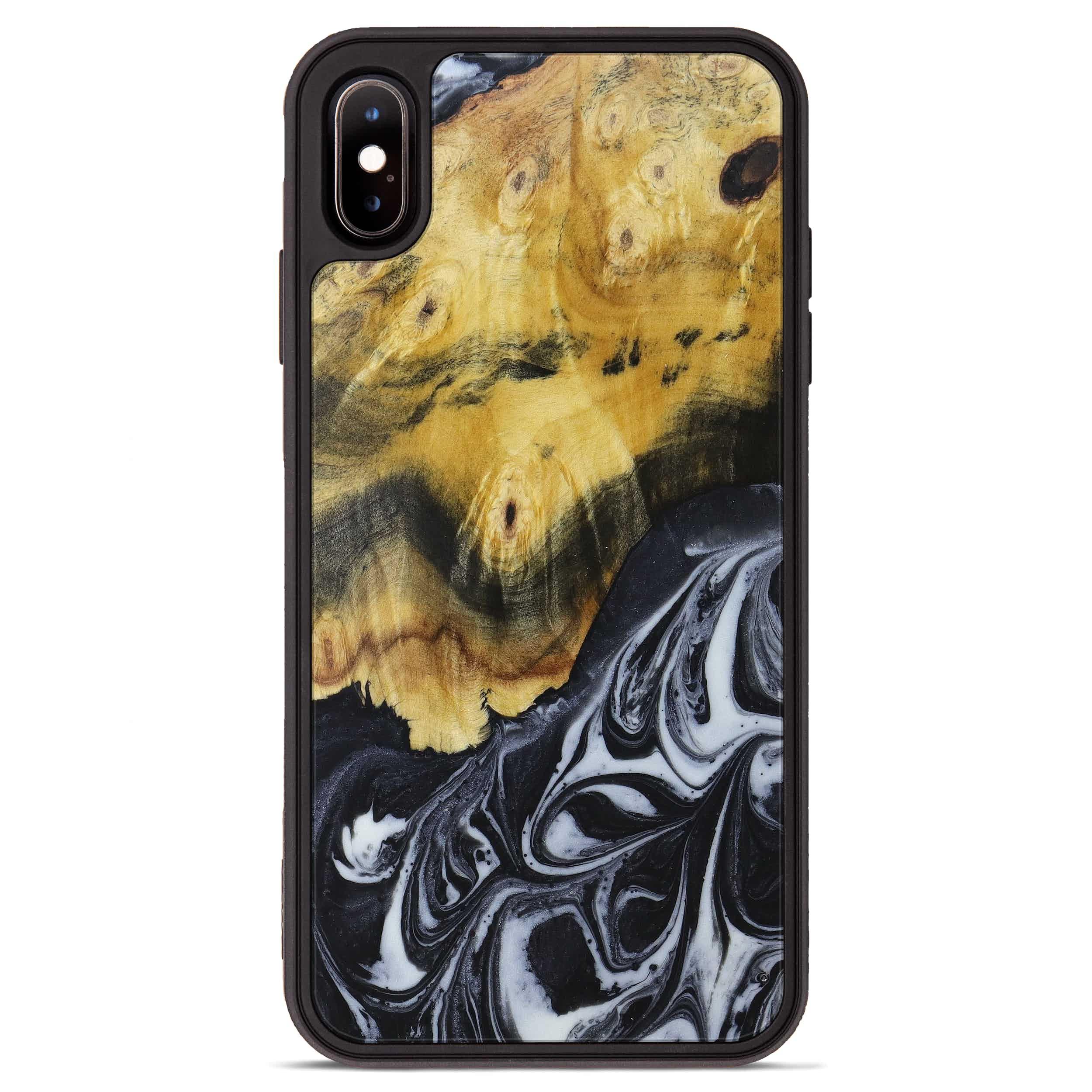 iPhone Xs Max Wood+Resin Phone Case - Mauro (Black & White, 397356)