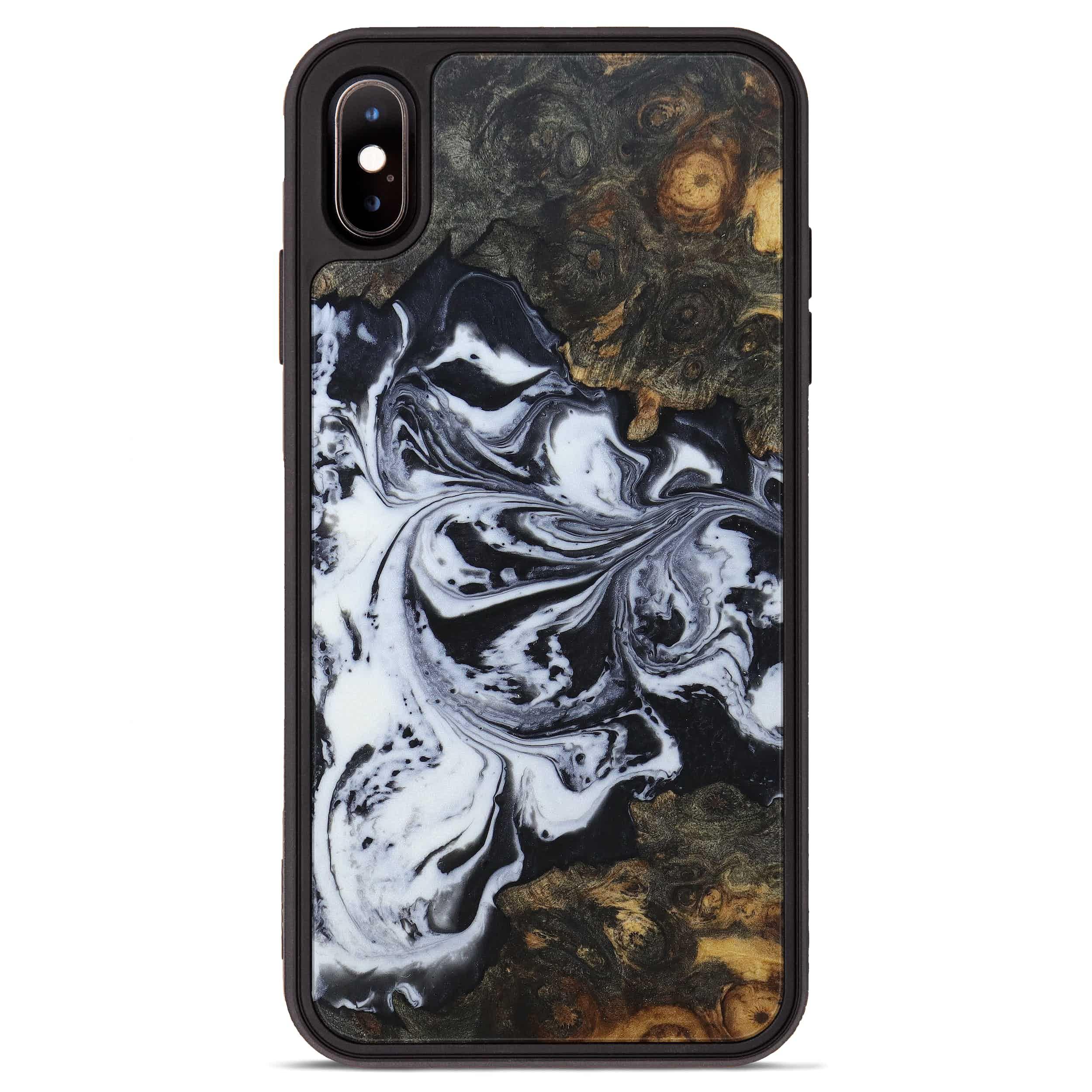 iPhone Xs Max Wood+Resin Phone Case - Lenna (Black & White, 397357)