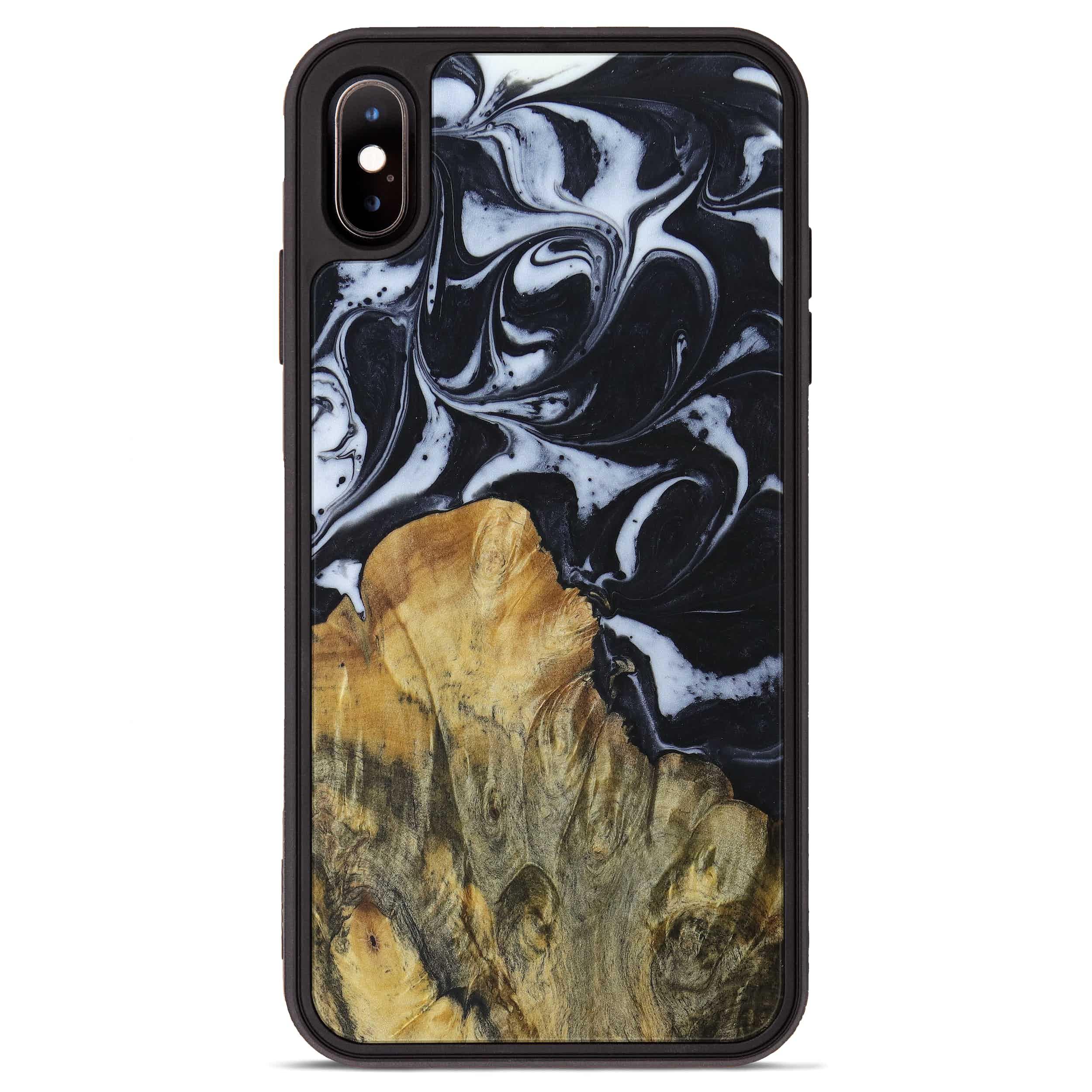 iPhone Xs Max Wood+Resin Phone Case - Antoine (Black & White, 397375)