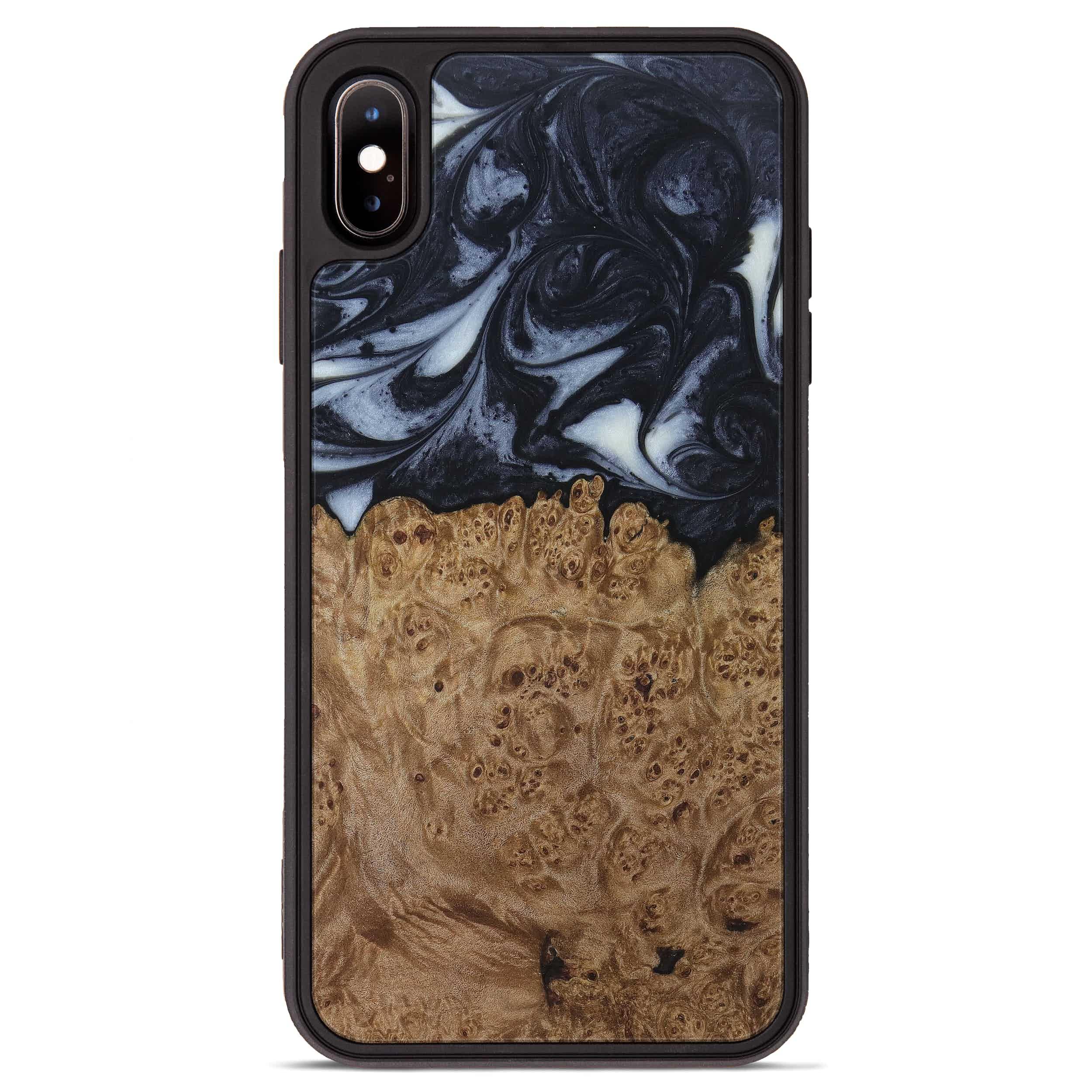 iPhone Xs Max Wood+Resin Phone Case - Zaria (Black & White, 397903)